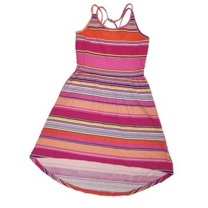 Children's Place Striped Strappy Hi-Low Dress M